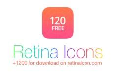 120 Retina Icons PSD