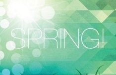 Fresh Spring Geometry Background Vector 01
