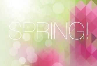 Fresh Spring Geometry Background Vector 03