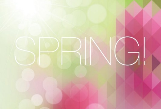 Fresh Spring Geometry Background Vector 03