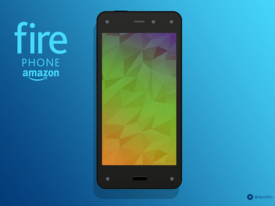 Amazon Firephone Mockup PSD