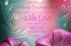 Elegant Flower Background For Romantic Event Vector 01