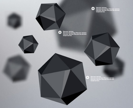 Vector Square Background Hd Vector Three Dimensional: Free 3D Black Polyhedron Background Vector