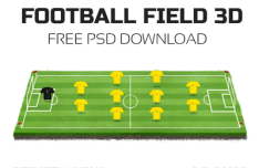 3D Football Field PSD