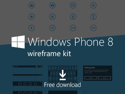 Windows Phone 8  Wireframe Kit PSD