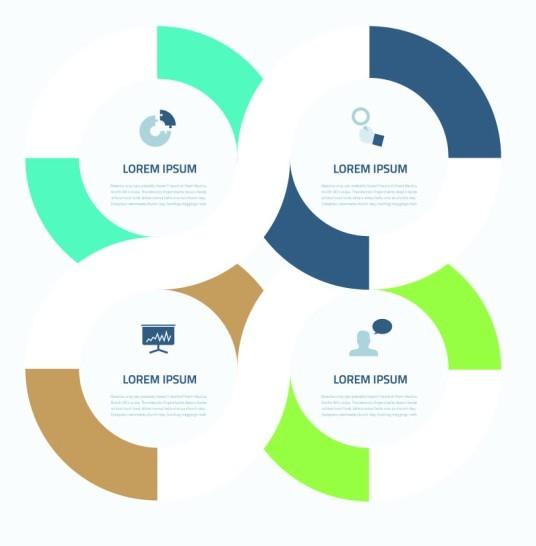 Creative Circle Infographic Presentation Elements Vol.3