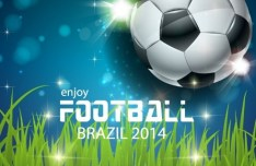 Enjoy Football Brazil 2014 Vector