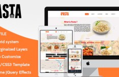 King of Pasta Website Template (PSD+HTML+CSS)