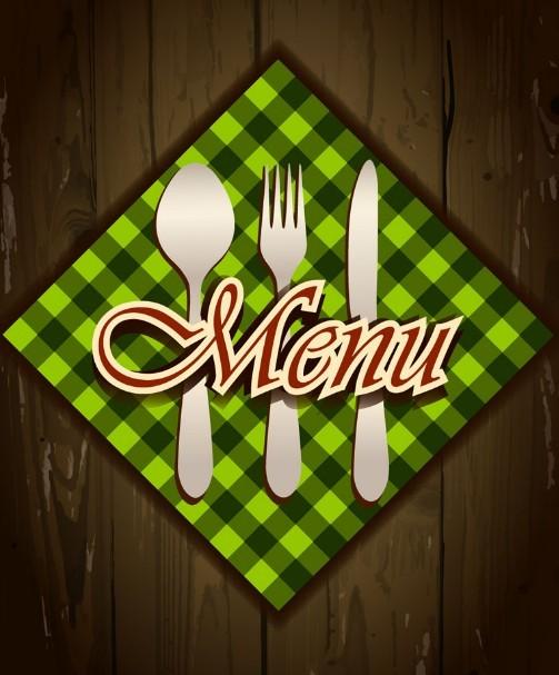 Elegant Green Restaurant Menu Design Vector