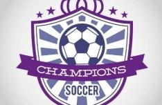 Soccer Champions Badge Vector