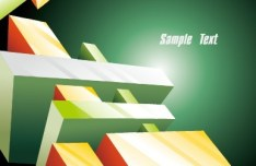 Abstract 3D Cube Background Vector 01