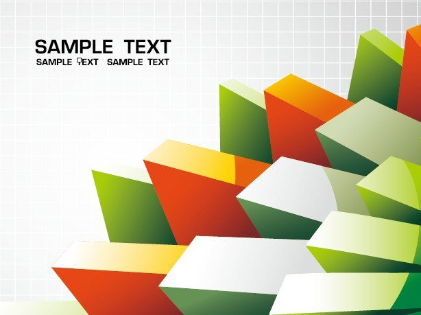 Abstract 3D Cube Background Vector 02