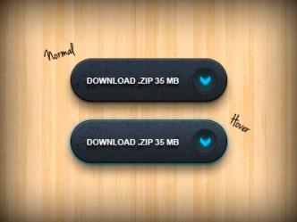 Dark Download Buttons PSD