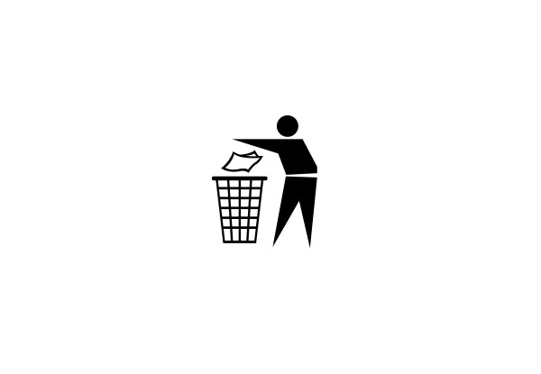 Trash Can Symbol Vector