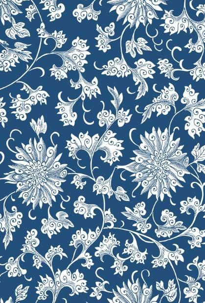 Vintage Chinese Flower Pattern