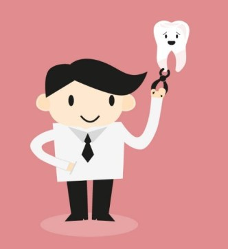 Cartoon Dentist and Tooth Vector Illustration