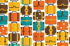Colorful Suitcase Pattern Vector