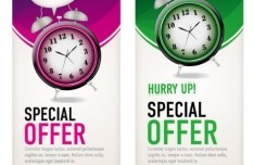 Vertical Special Offer Banners Vector