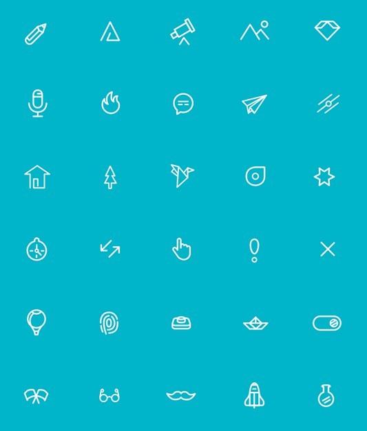 40 Mini Line Icons