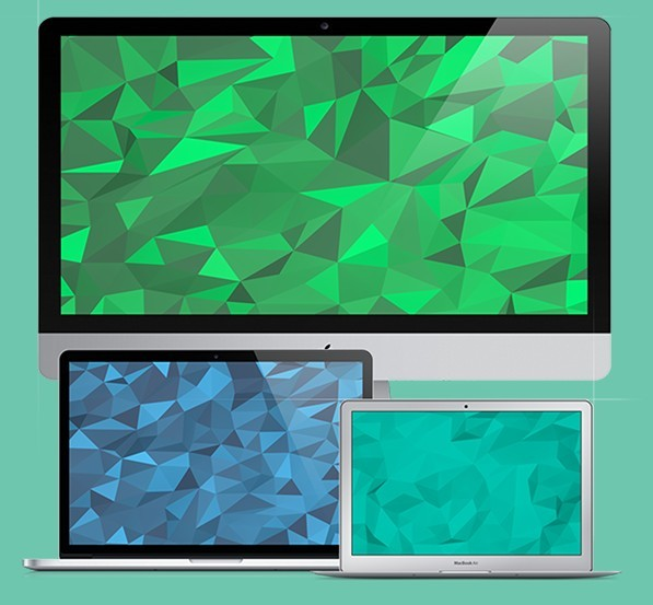 20 Beautiful Flat Geometric Backgrounds