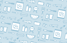 Clean BBQ Icon Set Vector