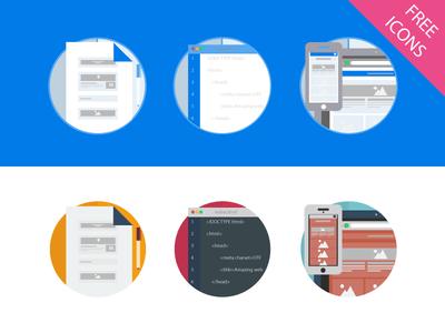 Web Design Icon Set Vector