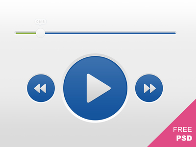 Audio Player Controls PSD