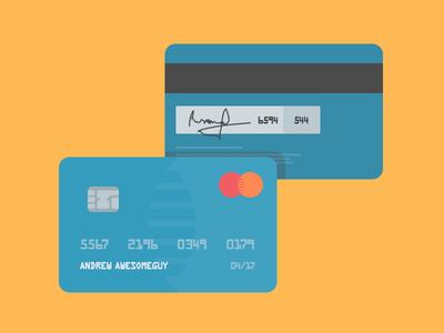 Flat Credit Cards Vector