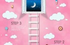 Sweet Nights Vector Clipart