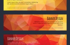 Colorful Low Polygon Banner Design Vector Vol.3