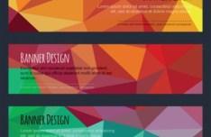 Colorful Low Polygon Banner Design Vector Vol.4