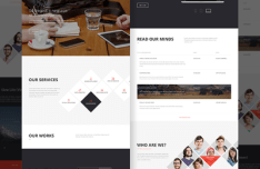 Office Landing Page Template PSD