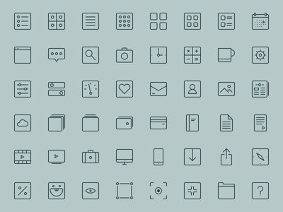 48+ Thin Line Icons Vector