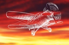 Hand Drawn Propeller Aircraft Vector Lineart Vector