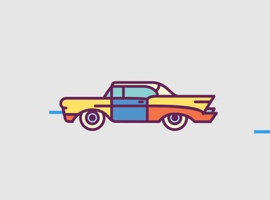 Retro Car Icons Set Vector