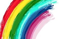 Hand Paint Rainbow Vector