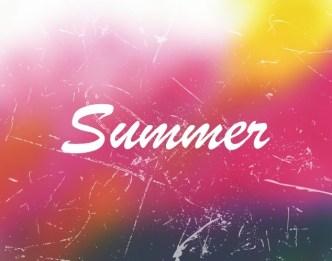 Grunge Gradient Summer Background Vector