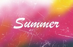 Grunge Gradient Summer Background Vector