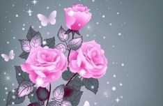 Sparkling Rose Background Vector