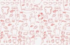 Seamless Red Cartoon Patterns