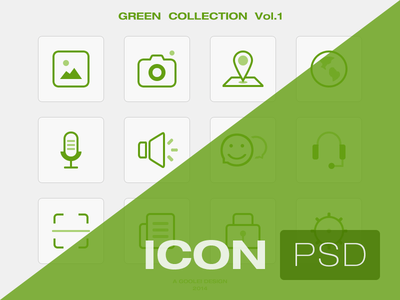Green Icon Set PSD Vol.1
