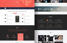Rave One Page PSD Template