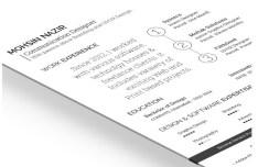 Personal Resume Mockup Template PSD