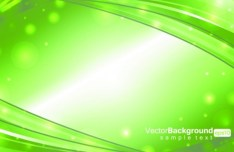 Bright Green Waves Background Vector