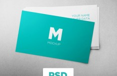 Flat Clean Business Card Mockup PSD