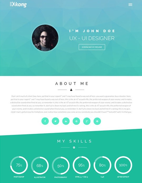 Free kong flat web template psd titanui for Website layout creator