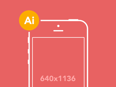 iPhone 5 Wireframe Template Vector