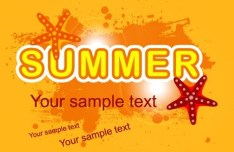 Orange Grunge Summer Background Vector