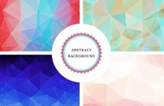 4 Colorful Abstract Particle System Backgrounds Vector