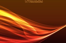 Bright Orange Abstract Curves Background 01